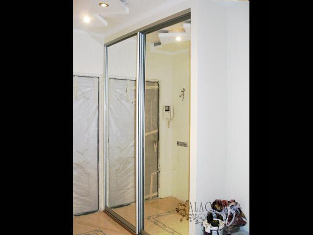 Дизайн дверей встроенного шкафа купе 45